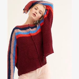 Free People   Colorblock See The Rainbow Sweater